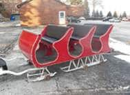 Carriage Limousine Service - Horse Drawn Carriages: Our one of a kind Horse Drawn Sleigh