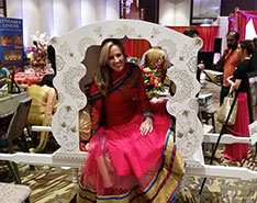 Carriage Limousine Service - Horse Drawn Carriages: One one of a kind Indian Wedding Doli during a bridal show in Pittsburgh, PA
