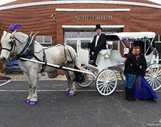 Before prom with our Victorian Carriage outside of Hanoverton, OH