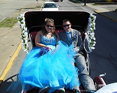 On the way to prom in our Victorian Carriage in Lisbon, Ohio