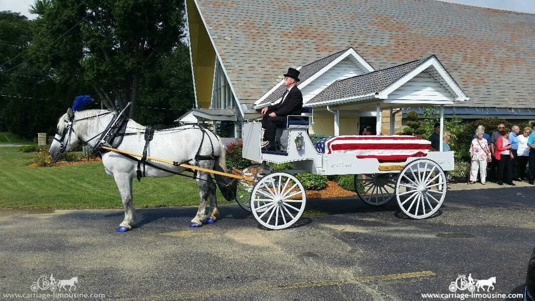 Our Caisson during a funeral in Alliance, OH