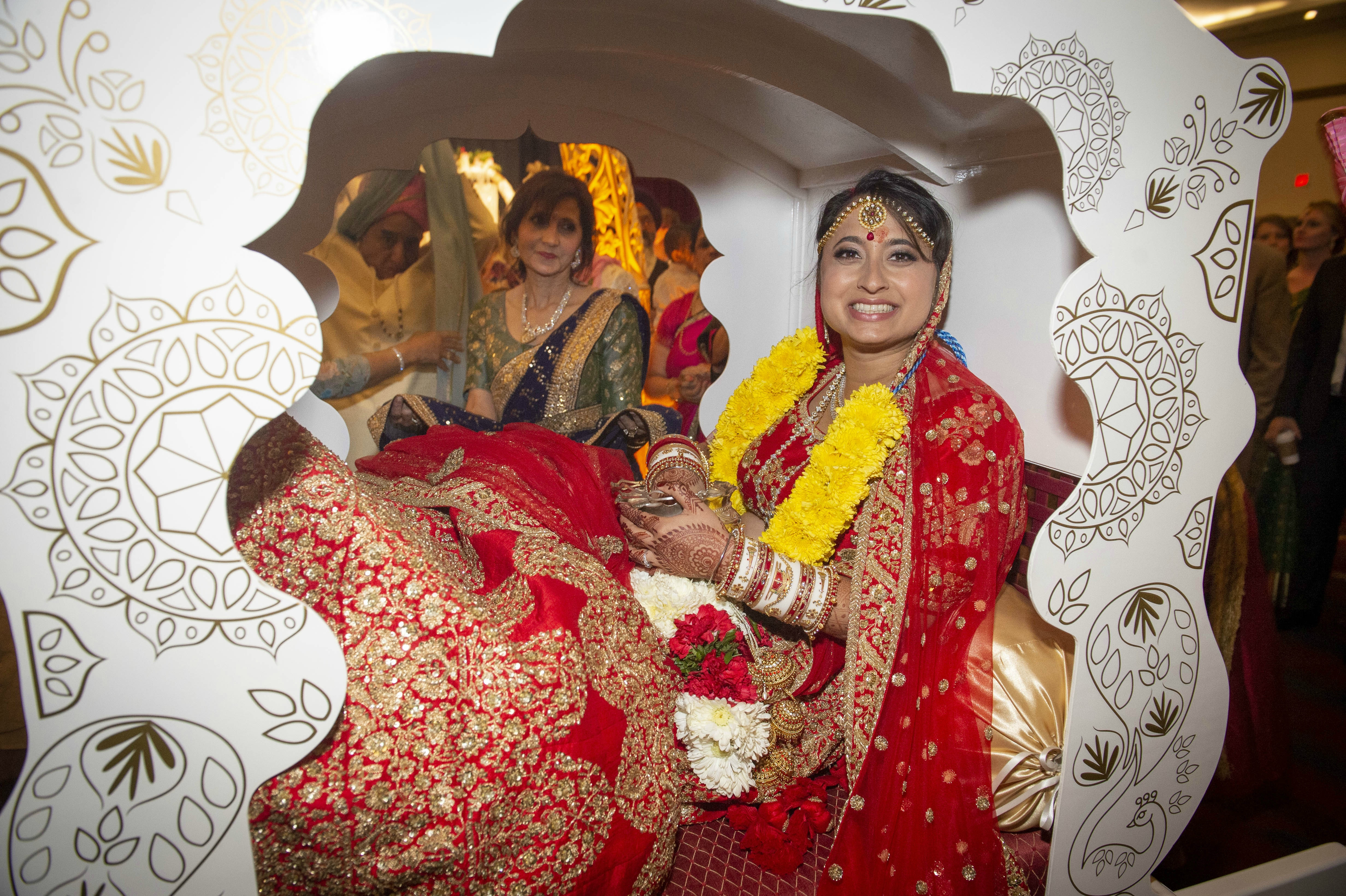 Bride in the Doli after the ceremony in Pittsburgh PA