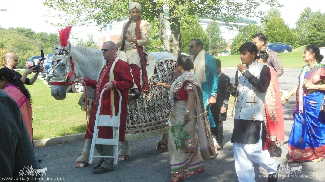 The groom riding our Indian Baraat Horse in Canonsburg, PA