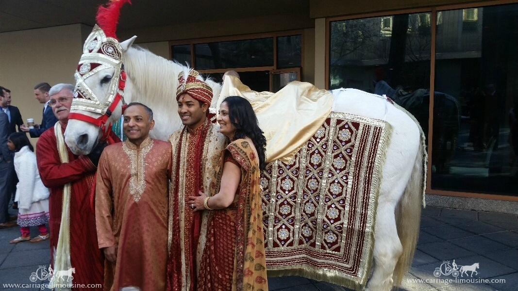 The groom on our Indian Baraat Horse at the Wyndham Grand Hotel in Pittsburgh, PA