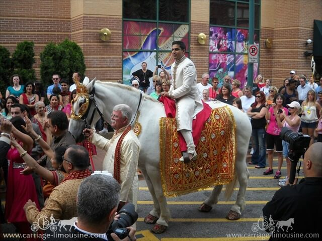Indian Wedding horse in Station Square Pittsburgh PA