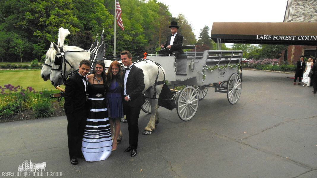 Posing with our Limousine at a prom in Hudson Ohio