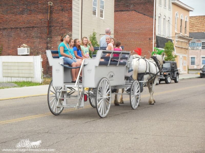 Our Limousine Carriage giving rides during the Wellsville Ohio Italian Festival