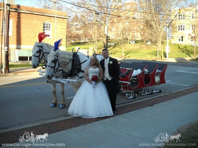 Our Sleigh in a wedding in Washington PA
