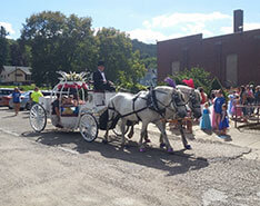 Carriage Limousine Service - Horse Drawn Carriages: Our one of a kind Cinderella Carriage at a princess ball in Chester, WV