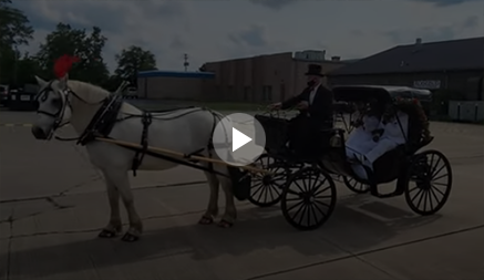 Carriage Limousine Service - Our Princess Carriage at Linden Hall in Dawnson PA for a wedding.
