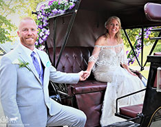 Carriage Limousine Service - Horse Drawn Carriages: Princess Carriage during a wedding in Dawson, PA