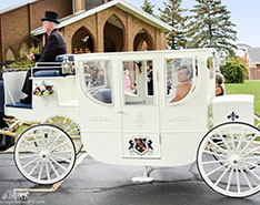 Carriage Limousine Service - Horse Drawn Carriages: Our Royal Coach at a wedding in Akron, OH